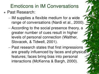 Emoticons in IM Conversations