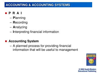 ACCOUNTING & ACCOUNTING SYSTEMS