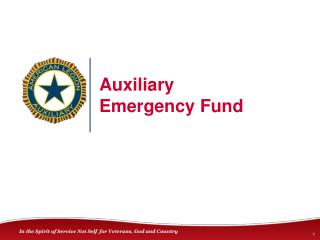 Auxiliary Emergency Fund