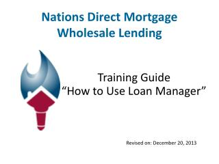 Nations Direct Mortgage Wholesale Lending