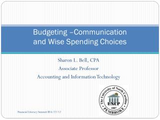 Budgeting –Communication and Wise Spending Choices
