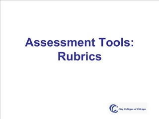 assessment tools: rubrics