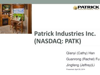 Patrick Industries Inc. (NASDAQ: PATK)