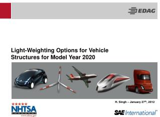 Light-Weighting Options for Vehicle Structures for Model Year 2020