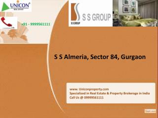 ss almeria gurgaon|call us at 09999561111 for almeria sector