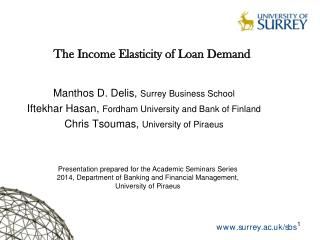 The Income Elasticity of Loan Demand