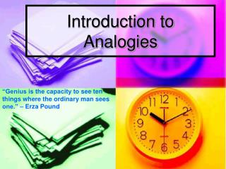 Introduction to Analogies