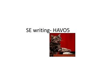 SE writing- HAVO5
