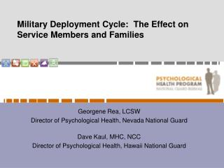 Military Deployment Cycle:  The Effect on Service Members and Families