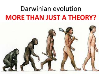 Darwinian evolution MORE THAN JUST A THEORY?