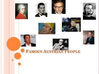 Famous Austrian People