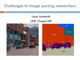 Challenges to image parsing researchers