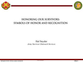 Hal Snyder Army Survivor Outreach Services