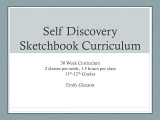 Self Discovery Sketchbook Curriculum