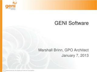 GENI Software
