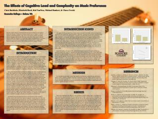 The Effects of Cognitive Load and Complexity on Music Preference