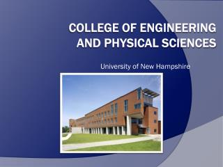 College of Engineering  and Physical Sciences