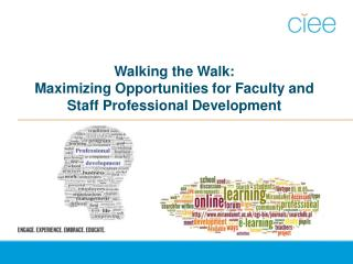 Walking the Walk:  Maximizing  Opportunities for Faculty and Staff Professional Development
