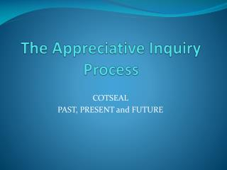 The Appreciative Inquiry  Process