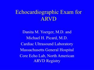 Echocardiographic Exam for ARVD