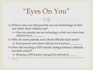 """""""Eyes On You"""""""
