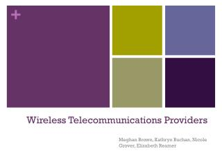 Wireless Telecommunications Providers