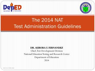 The 2014 NAT Test Administration Guidelines