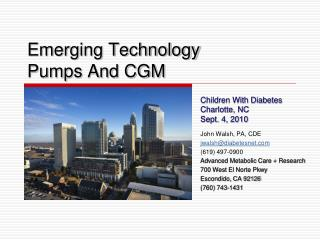 Emerging Technology Pumps And CGM