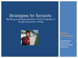 Strategies for Schools: Building a Robust Summer Food Program in Tough Economic Times