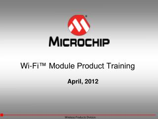 Wi-Fi™ Module Product Training