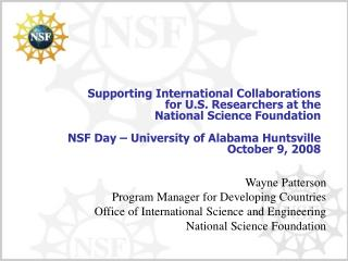 limitations on indirect cost rate recovery under nsf program ...
