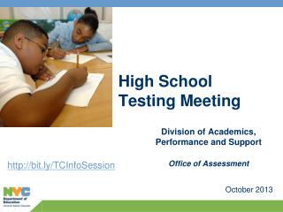 High School Testing Meeting