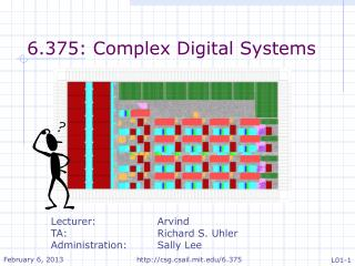 6.375: Complex Digital Systems
