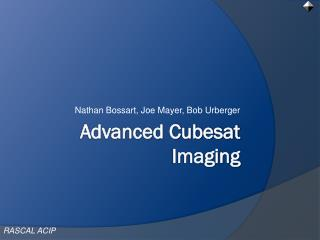 Advanced Cubesat Imaging