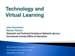 Technology and Virtual Learning
