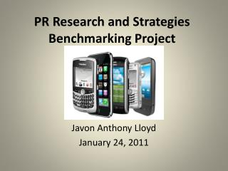 PR Research and Strategies Benchmarking Project
