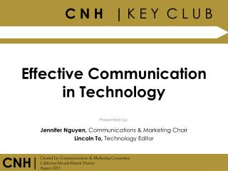 Effective Communication in Technology