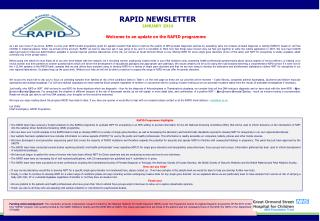 RAPID NEWSLETTER JANUARY 2014