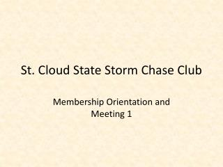 St. Cloud State Storm Chase Club