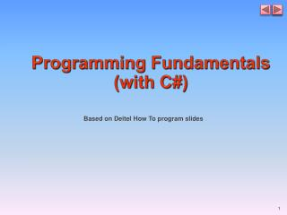 Programming Fundamentals (with C#)