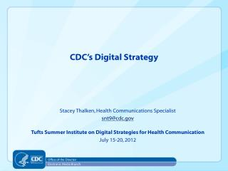 CDC's Digital Strategy