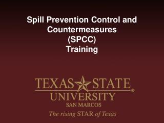 Spill Prevention Control and Countermeasures (SPCC) Training