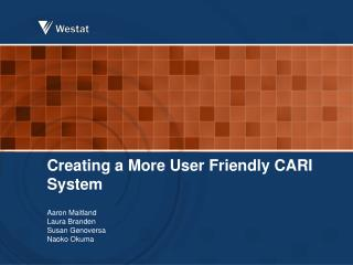 Creating a More  User Friendly CARI System