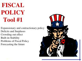 FISCAL POLICY Tool #1