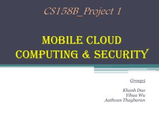 CS158B_Project 1 Mobile  Cloud Computing & Security