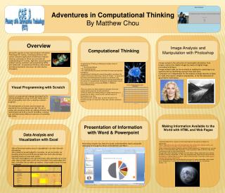 Adventures in Computational Thinking By Matthew Chou