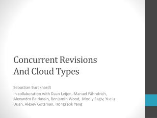 Concurrent Revisions And Cloud Types