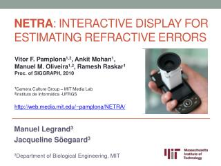 NETRA : Interactive Display for Estimating Refractive Errors