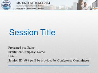 Session  Title