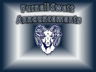 Purnell Swett Announcements